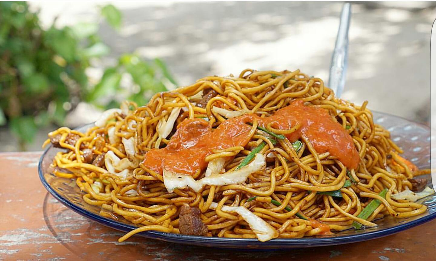 The classic Min Frire Mauritian Fried Noodles