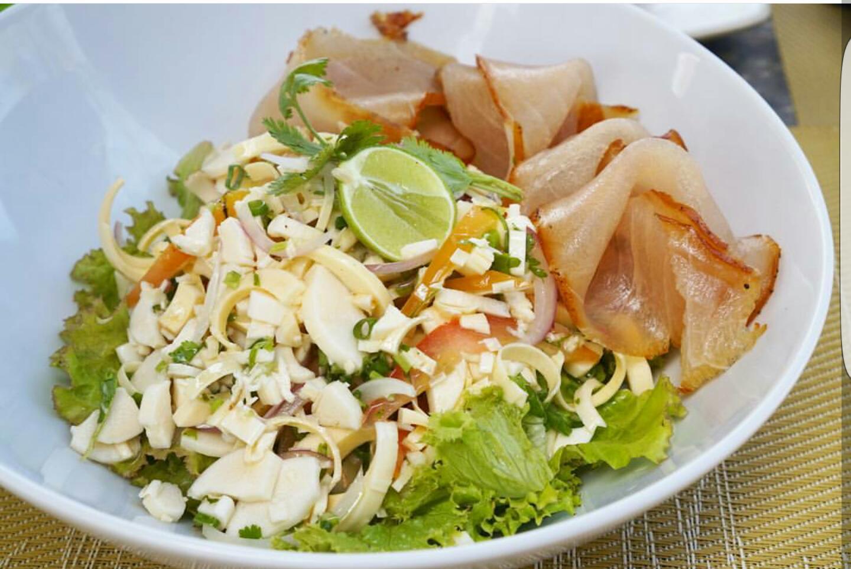 Salade Palmiste with Smoke Marlin - A Classic Mauritian Salad