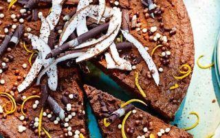 Photo: Chocolate, coconut and orange torte