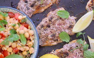 Photo: Sumac sardines with smashed chickpea salsa