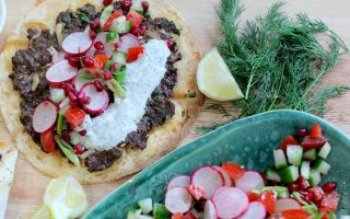 Photo: Turkish-style pizza and spiced mince