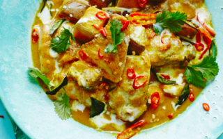Photo: Tilapia & Aubergine Coconut Curry