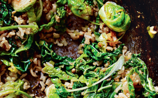 Photo: Korean Brown Rice and Brussels Sprouts