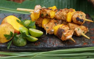 Photo: Coconut & Lime Fish Skewers